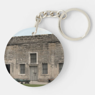 St Augustine Fort II.jpg Double-Sided Round Acrylic Keychain