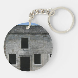 St Augustine Fort Windows Double-Sided Round Acrylic Keychain