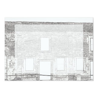 St Augustine Fort Windows Line Drawing Card