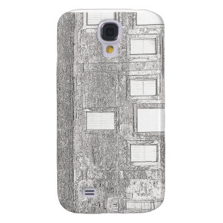 St Augustine Fort Windows Line Drawing Galaxy S4 Cover