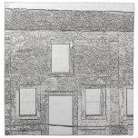 St Augustine Fort Windows Line Drawing Napkins