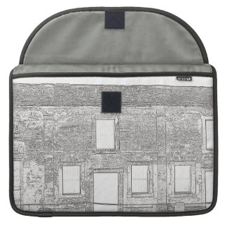 St Augustine Fort Windows Line Drawing Sleeve For MacBook Pro