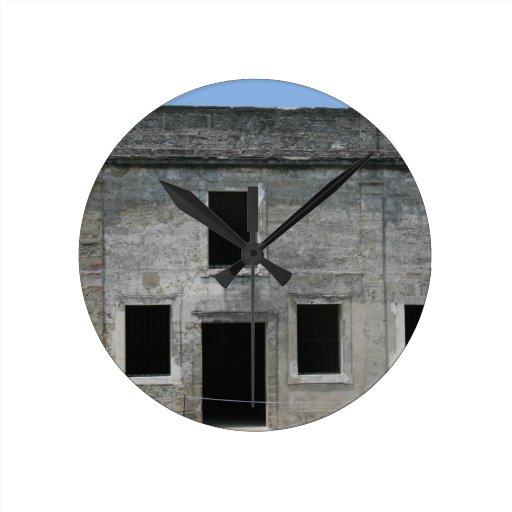 St Augustine Fort Windows Round Clocks