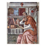 St. Augustine In Contemplative Prayer By Sandro Flyers
