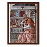 St. Augustine In Contemplative Prayer By Sandro Postcards