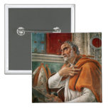 St. Augustine in his Cell, c.1480 2 Inch Square Button