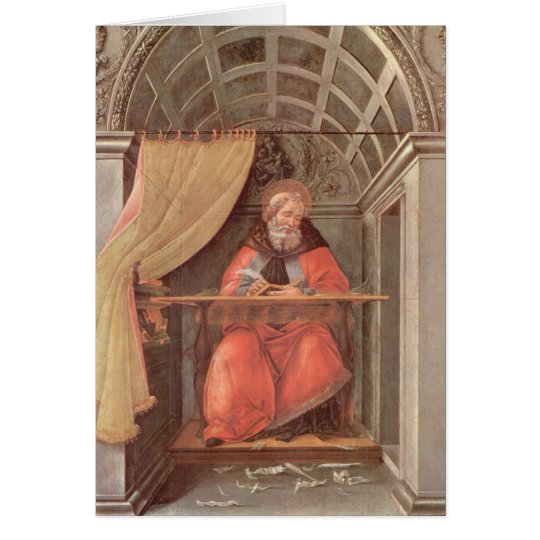 St. Augustine in his Cell Card