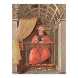 St. Augustine in his Cell Postcard