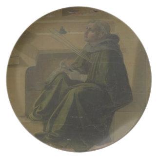 St. Augustine in his Study (predella of the Barbad Melamine Plate