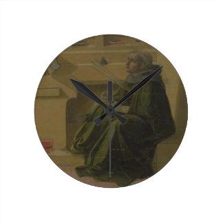 St. Augustine in his Study (predella of the Barbad Round Clock