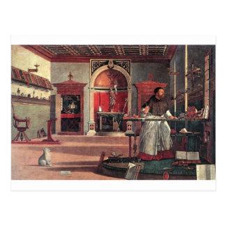 St. Augustine in His Study - Vittore Carpaccio Postcard