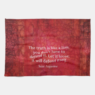 St Augustine inspirational quote on TRUTH Towel