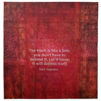 St. Augustine inspirational quote on TRUTH Napkin