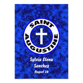 St Augustine invita Invitación 12,7 X 17,8 Cm