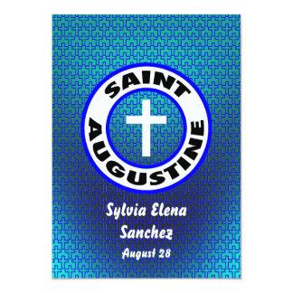 """St Augustine invita Invitación 5"""" X 7"""""""