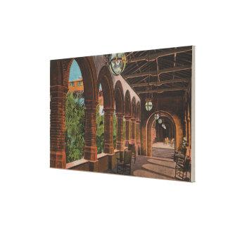 St Augustine la Florida - vista del hotel Ponce d Impresión En Lona Estirada