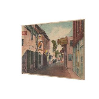 St Augustine, la Florida - vista del St. de San Jo Impresión En Lona