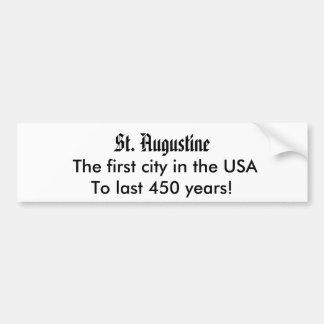 St Augustine, la primera pegatina para el parachoq Pegatina Para Auto
