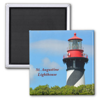 St. Augustine Lighthouse 2 Inch Square Magnet