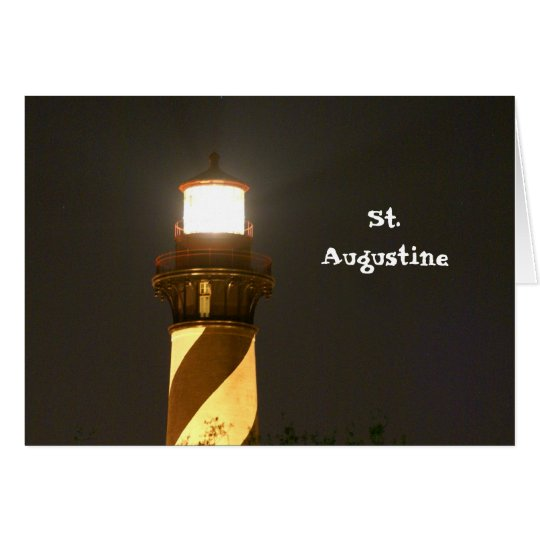 St Augustine Lighthouse at Night Card
