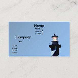 Lighthouse business cards zazzle st augustine lighthouse business card colourmoves