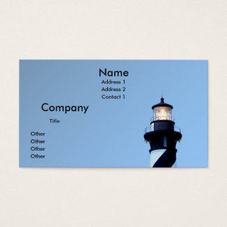 St Augustine Lighthouse Business Card