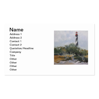 St. Augustine Lighthouse Double-Sided Standard Business Cards (Pack Of 100)
