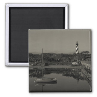 St. Augustine Lighthouse Early Morning 2 Inch Square Magnet