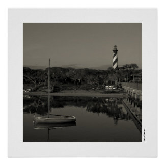 St. Augustine Lighthouse Early Morning Poster