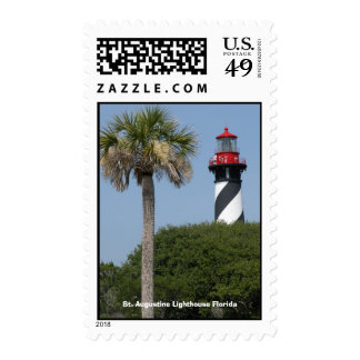 St Augustine Lighthouse Florida Postage Stamp