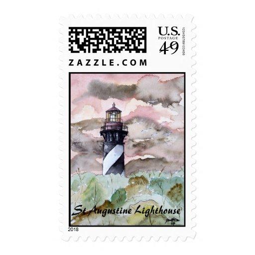 St Augustine Lighthouse Postage Stamp