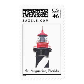 St. Augustine Lighthouse Watercolor Postage Stamps