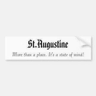 St Augustine, más que una pegatina para el paracho Pegatina Para Auto