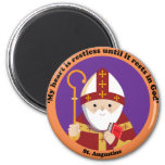 St. Augustine of Hippo 2 Inch Round Magnet
