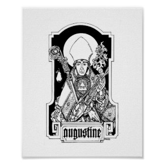 "St. Augustine of Hippo 8"" x 10"" Print"