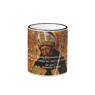 St. Augustine of Hippo Beauty Ever Ancient Ringer Coffee Mug