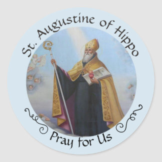 St. Augustine of Hippo FEAST AUG 28 Classic Round Sticker