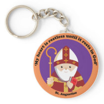 St. Augustine of Hippo Keychain