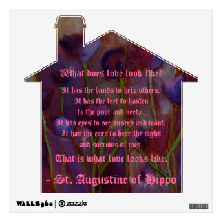 St. Augustine of Hippo Love Quote Wall Decal