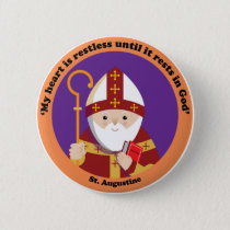 St. Augustine of Hippo Pinback Button
