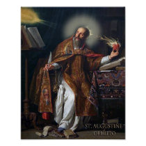 ST AUGUSTINE OF HIPPO POSTER