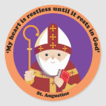 St. Augustine of Hippo Round Stickers