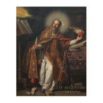 ST AUGUSTINE OF HIPPO WOOD PRINT