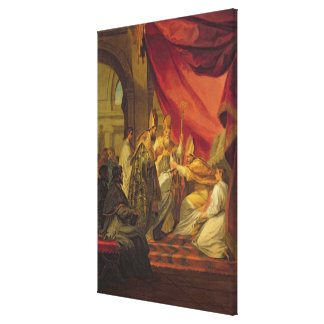 St. Augustine  ordained as the Bishop Canvas Print