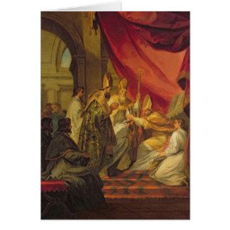 St. Augustine  ordained as the Bishop Greeting Card