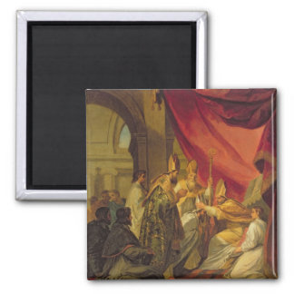 St Augustine ordenó como el obispo Imán Cuadrado