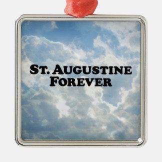 St Augustine para siempre - básico Adorno Navideño Cuadrado De Metal