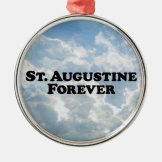 St Augustine para siempre - básico Adorno Navideño Redondo De Metal