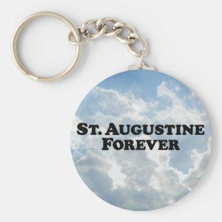 St Augustine para siempre - básico Llavero Redondo Tipo Pin