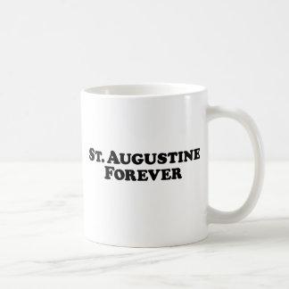 St Augustine para siempre - básico Taza Básica Blanca